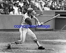 Ken Hawk Harrelson  Cleveland Indians 1969-71 Red Sox   B+W  8x10 A