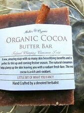 Organic Cocoa Butter Bar & Plumping Cinnamon Twist - Handcrafted Soap