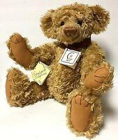 Vintage Barbara's Originals MR. DELDERFIELD Large Golden Mohair Jointed Bear