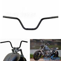 7/8 in Black Motorcycles Euro Style Handlebar For Harley Honda Suzuki Kawasaki