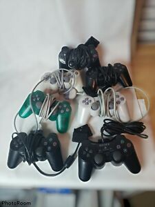 Playstation 2 Controller lot of 7, Work but Damaged. Sony PS2 EOM Bundle