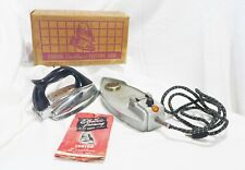Old Eureka Cordless Iron In Box With Booklet RARE Works