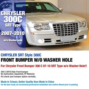 SRT Type Front Bumper without Washer Hole For CHRYSLER 2007 2008 2009 2010 300C