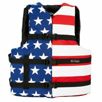 NEW Onyx Stars and Stripes USA American Flag Life Jacket Wakeboard Vest