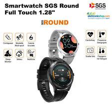 SGS ROUND Smartwatch multisport misuratore ossigeno-pressione sanguigna NERO