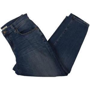 Eileen Fisher Womens Blue Light Wash Straight Leg Jeans Petites 4P BHFO 3251