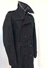£1195  BURBERRY LONDON MENS BLACK TRENCH COAT 52R (42RUK)