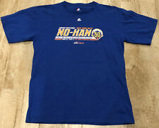JOHAN SANTANA NEW YORK METS NO HITTER 6/1/2012 COMMEMORATIVE T SHIRT SIZE L EUC