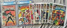 Secret Wars Full Set 1-12. Issue 1 and 8 Graded By CGC #8 Issue Is The Beginning