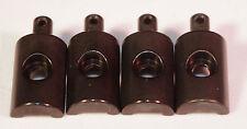 Tamiya Lunchbox Black Anodized Aluminum Body Mounts (4 Pcs) - Int