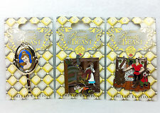 Disney Pin Beauty & The Beast 25th Anniversary 3 Pins Set Belle Gaston Maurice