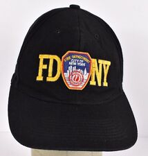 Black FDNY New York Fire Department Embroidered baseball hat cap adjustable
