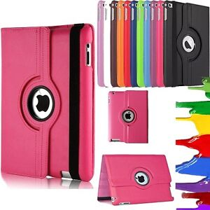 360 Rotating Smart PU Leather Stand Case Cover For APPLE iPad 10.2 7th 8th Gen