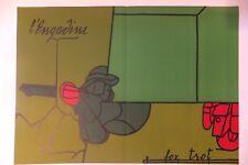 """""""Fox Trot"""" lithographie pour Derrière le Miroir, Valerio Adami, 1973"""