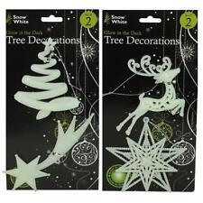Set di 4 Si Illumina Al Buio Decorazioni Albero Natale - Renna Stelle &