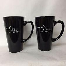 "Celine Dion Team "" A New Day "" Large Coffee Mug Las Vegas Set of 2 w Print NEW"