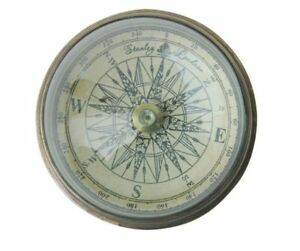 Sea Club Kompass mit Domglas, Messing Antik, Gr. 6cm,tolles Geschenk, selten UVP