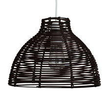 Modern Brown Wicker Rattan Ceiling Pendant Light Lamp Shade Rustic Home Lighting