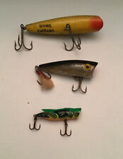 Vintage Lot Of 3 Fishing Lures, 1 Boone Castana, 1 Rebel And A Cricket