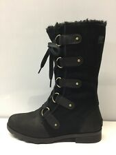 Sorel Women Emelie Lace Waterproof Black NL2680-010 Size 9.5M.⭐️