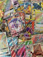 Pokemon Card Lot 10 Official TCG Cards: Full Art GX EX V Ultra Rare Guaranteed!