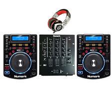 DJ Package 2: Numark NDX500 USB/CD/Controller M4 MIXER & REDWAVE HEADPHONES