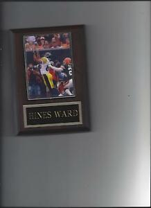HINES WARD PLAQUE PITTSBURGH STEELERS FOOTBALL NFL