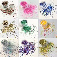 Chunky Fine Glitter Mix Pot Nail Eye Face Body Tattoo Festival Club Cosmetic MUA