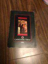 Gainesway Stallion Catalog circa 1991. #Blushing Groom, #Exceller, #ArtsandLette