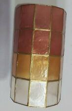 Tiffany Stile Light Shade - Cylinder Shape - Red / Amber / White