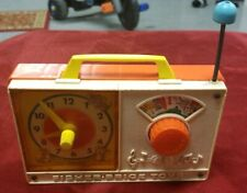 Vintage 1971 Fisher Price #107 Wind Up Hickory Dickory Dock Clock Radio - WORKS!