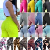 Women's Sports Yoga Leggings High Wasit Running Gym Pants Fitness Trousers New L