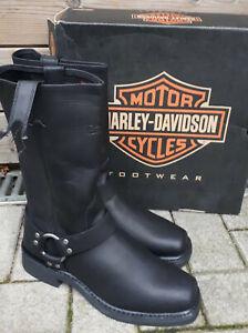 8 gr 42 schwarze harley Davidson Biker Leder Stiefel Stiefelette Boots schwarz