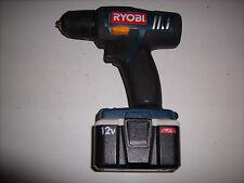 "RYOBI - CD100 - 12V - CORDLESS DRILL DRIVER - 3/8"" CHUCK - WORKS WELL"