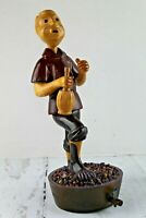 Vintage Romer Wooden Carved Sculpture Figure Grape Stomper Handmade Italy Rare