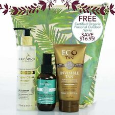 Eco Tan Best Sellers Pack -Invisible Tan, Personal Outdoor Spray, Fruit Cleanser
