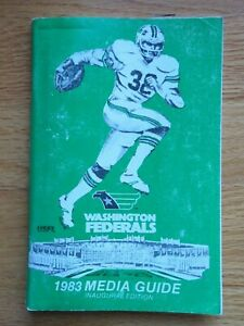 1983 USFL WASHINGTON FEDERALS Atlantic Division Media Guide LARRY BROWN