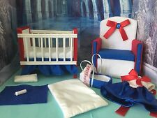 Barbie baby Nursery Set Furniture ,crib ,sofa ,carrier, dress. Sailor Moon