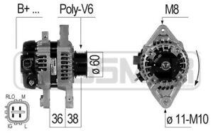 Alternator Regenerated for Toyota Yaris 104210-9240