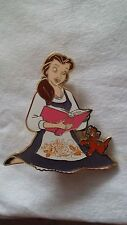 Disney Inspired Fantasy Pin - Belle With Oliver Beauty and the Beast