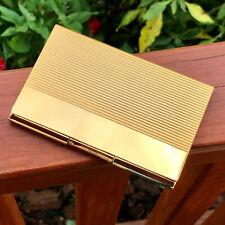 Gold Pocket Stainless Steel Amp Metal Business Card Holder Case Id Credit