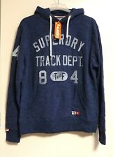 superdry trackster hood prussian blue marl SIZE XL RRP £49.99 CR180 HH 01