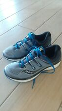 MENS SAUCONY EVERUN HURRICANE ISO BLUE GRAY RUNNING SHOES SIZE 11W U353