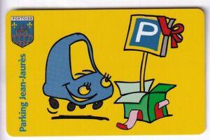 PIAF PARKING CARTE / CARD .. PONTOISE 95 JEAN JAURES AUTO CAR V° 8LN MAGNETIQUE
