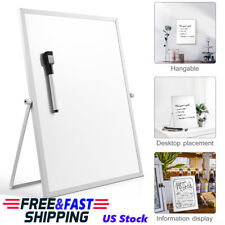 Magnetic Dry Erase Board Double Sided White Board w/ Stand for Home School