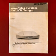 New listing Bose Wave Music System Owners Manual Guide 2005 Paperback English Spanish French