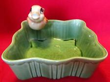 Shawnee Pottery USA  #767 Square Green Planter With Bird