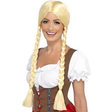 Womens Bavarian Beauty Wig Plaited Blonde German Dutch Fancy Dress Sexy Beer Fun