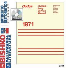 1971 Dodge Charger Coronet Polara Shop Service Repair Manual DVD