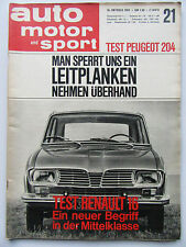 Auto Motor Sport 21/1965, Test: Renault 16,  Peugeot 204